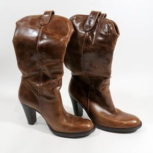 Mia Tan Size 6.5 Leather Cowboy Boots